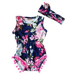 Body Tutu UK - New 2018 Brand Baby Bodysuits Spring summer Babies Newborn Cotton Body Baby Sleeveless Infant Girl Flower Clothes
