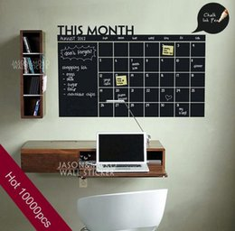 $enCountryForm.capitalKeyWord Australia - 2015 Home Decoration Diy Monthly chalkboard calendar Vinyl Wall Decal Removable Planner wallpaper vinyl Wall Stickers 60*92CM