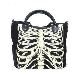 $enCountryForm.capitalKeyWord Australia - DIINOVIVO Luminous Gothic Skeleton Bones Skulls Bags Rock Designer Female Casual Totes Women Punk Bags Fashion Handbag WHDV0244