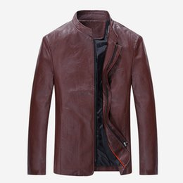 korean style hat men NZ - 2018 Autumn And Winter Men Jacket Youth Slim Fit Korean-style Stand Collar Leather Jacket Men Casual Leather Coat