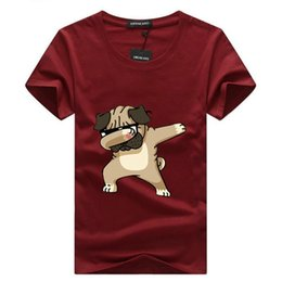 Wholesale dog t shirts online – design Men s T shirts Fashion Animal Dog Print Hipster Funny t shirt Men Summer Casual street Hip hop Tee shirt Male Tops XL