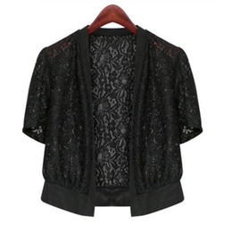 $enCountryForm.capitalKeyWord NZ - Women Summer Casual Kimono Cardigan Female Shirt Lace Solid Blouse Crochet Blouse Office Kimono Women Plus Size Top M-5xl