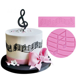 Discount musical notes decoration - Musical Note Lace Pattern Fondant Mold Silicone Sugar Chocolate Soft Candy Mold DIY Embellisment Decoration Birthday Cak