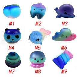 Kids Dolphin Toys Australia - Star Sky Color Squishy toys Peach toothed panda clouds porpoise dolphin poop cotton candy whale octopus Slow Rising Rebound for kid toys