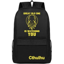 $enCountryForm.capitalKeyWord NZ - Cthulhu Mythos backpack Great old one watching day pack Cartoon school bag Casual packsack Print rucksack Sport schoolbag Outdoor daypack