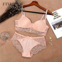 82365162ce Lace Bra Set For Women Comfort Wireless Bra Sexy Lingerie Set Fashion Female  Wire Free Floral Underwear Suit Cotton Girls Panty