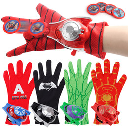 black spiderman toys 2019 - Spider-Man Marvel Ultimate Spider-Man Hero FX Glove Child Spiderman Gloves Avengers Wrist Launcher Ejection Anime Educat
