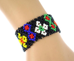 $enCountryForm.capitalKeyWord Australia - Nepal Handmade Bead Bracelet Hippy Friendship Popular Roll Crochet Woven Seed Beads Pattern Bracelets For Women Men 2018 Gift