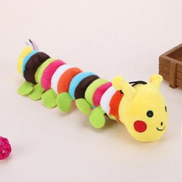 cute products Australia - Plush Stuffed Pet Dog Toys Sound Cute Longworm Chew Squeak Toys for Dogs Teeth Cleaning Cats Dog Products Chewing Toy