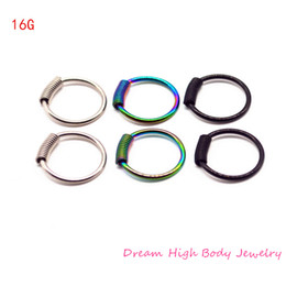$enCountryForm.capitalKeyWord NZ - wholesale Jewelry Spring Wire Captive Ring Coil Mixed Sizes BCR Body Piercing Jewellery 316L Surgical Steel Plating Titanium