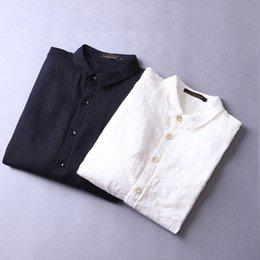 7d6c25df41 2018 New pure linen shirts men long sleeve fashion men shirt 100% flax spring  shirt mens brand clothing shirts male