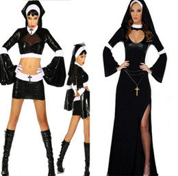 Wholesale adult masquerade costumes for sale – halloween Halloween Sexy Nun Costume Ghost Festival Women Masquerade Ball Theme Costumes Classic Adult Costume Halloween Femme Lingeries
