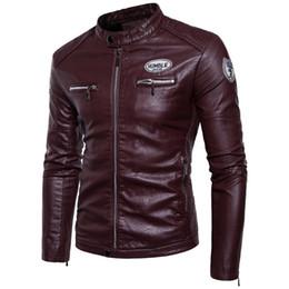 $enCountryForm.capitalKeyWord Australia - MYAZHOU Autumn Men's Leisure Long-sleeved Leather Jackets Men , Winter Windproof Leather Moto Biker Style Thick Warm Jacket Men
