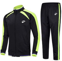 Jacket Waterproof Child UK - Classic Suit Fashion New Spring Autumn Boy Girls Long Sleeve Jacket + Pants 2pcs Set Kids Clothing Children Casual Football Suit Sportswear