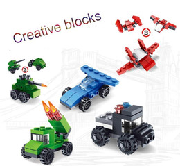 $enCountryForm.capitalKeyWord Australia - Hot building blocks three changes diy toy combination building block five in one fire racing tank children educational toy gift kids toys