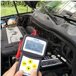 Discount english language Original Auto Battery Tester 12V Car Automotive Battery Analyzer Multi-Language Spanish Russian