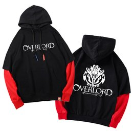 677af9b1b49b Anime Overlord Logo Impreso Con Capucha Adultos Unisex Hoodie Fake 2 Piezas  Manga Larga Sudaderas Abrigo Outwear Moda Hoody