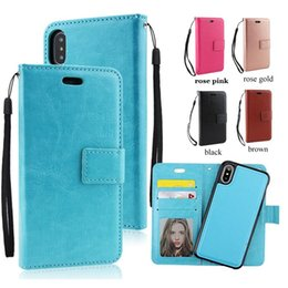 For Magnets Australia - Retro PU Leather 2in1 Magnetic Magnet Detachable Removable Wallet Case For iPhone XS Max XR X 8 7 6 plus Samsung Galaxy note 8 S9 plus S9 S8