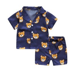 $enCountryForm.capitalKeyWord Australia - 2019 Toddler Kids Baby Boys Girl Clothing Set Cartoon Pajamas Sleepwear T shirt Shorts Girls Clothes Set Child MuqGew Costume