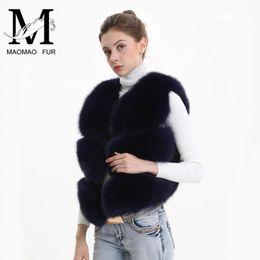 Wholesale fox lady vest for sale - Group buy Women Real Fox Fur Vest Female Winter Autumn Genuine Fox Fur Waistcoat Coat Fashion Lady Gilet Natural Real Fur Vest for Women T200106