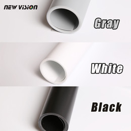light color backgrounds NZ - Freeshipping Black Gray White PVC Photo Photography Studio Lighting Backdrop Background Cloth 68cm*130cm three kinds of color