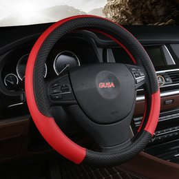 black fur steering wheel cover Australia - Car-covers Steering-wheel faux fur Steering Wheel Cover Genuine Leather Steering Wheel Cover soft Classical black gray cream