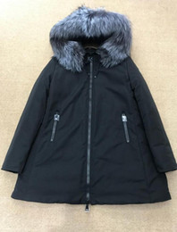 floral down parkas NZ - down jacket thickening Short down parkas 100% real raccoon fur collar hood down