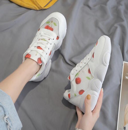 Cotton Cherry Australia - 2019 new cherry shoes summer women's casual old shoes Korean students breathable mesh small white bear bottom