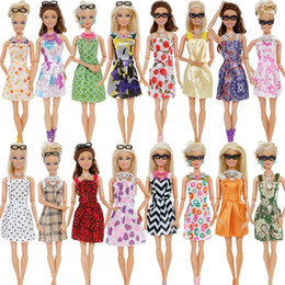 barbie clothing Australia - 30 Item Set Doll Accessories = 10x Mix Fashion Cute Dress + 4x Glasses+ 6x Necklaces + 10x Shoes Dress Clothes For Barbie Doll