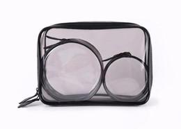 $enCountryForm.capitalKeyWord NZ - 100sets Clear Makeup Cosmetic Bags Portable Toiletry Travel Wash Storage Pouch Transparent Waterproof PVC Bag 3pcs set