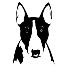 $enCountryForm.capitalKeyWord NZ - 10*15.1cm Bull Terrier Dog Fashion Car Sticker Funny vinyl car styling laptop window wall Decals stickers and decals