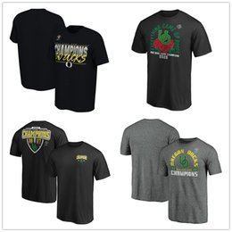 Duck t shirts online shopping - NCAA Men s Oregon Ducks College Fanatics Branded Rose Bowl Champions Receiver T Shirts Black Red Blue Printed Logos fans top tees