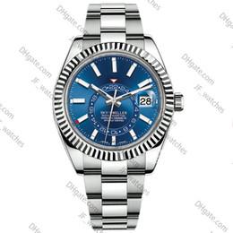 $enCountryForm.capitalKeyWord Australia - Luxury watch new mens automatic mechanical calendar 42mm watch stainless steel Sky-Dweller GMT men's luminous business waterproof 30M watch