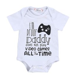 lovely games UK - Baby Girl Boy Bodysuit Lovely Printing Jumpsuit Cotton Funny Cute Daddy Play Game Kawaii Short Sleeve Letter Clothes gift Climb