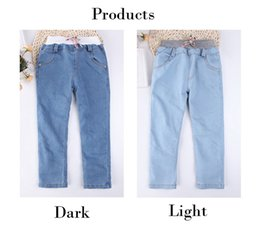 girls skinny jeans Australia - Girls Leggings New 2019 Autumn Kids Jeans 2 Colors Girls Elastic Skinny Children Pencil Pants for 2 to 7 Years Trousers