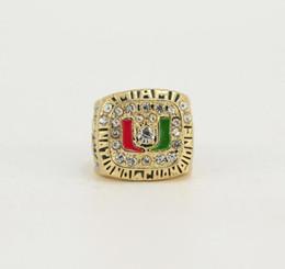 University Rings UK - NCAA 1983 1987 1989 1991 University of Miami Hurricane League Championship Ring Birthday Gift Fan Memorial Collection