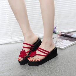 $enCountryForm.capitalKeyWord Australia - Hot Sale-6CM Flip Flop wedges Female High Heeled Slippers 2018 Korean Version Non-slip Thick Bottom High Heel Slipper Beach Ladies Slippers