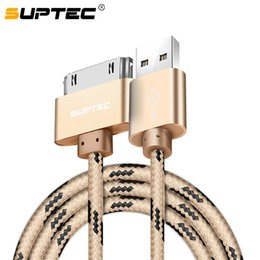 Wholesale SUPTEC USB Cable for S Charger Cable for iPad Nano itouch Pin Original Braided Wire Charging Cord M
