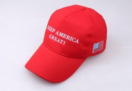 Toptan satış Yeni Amerika Büyük Şapka Donald Trump Tutmak Şapkalar MAGA Trump Destek Beyzbol Kapaklar Spor Beyzbol Kapaklar Kırmızı 50 adet ücretsiz gemi