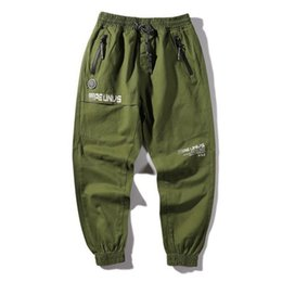 $enCountryForm.capitalKeyWord UK - AXXE Mens Camouflage Pants Spring Japan Washed Long Causal Trousers Fashion Zipper Letters Print Pencil Pants