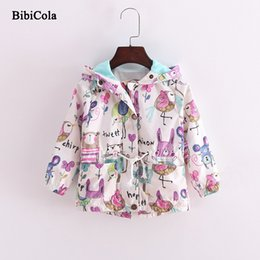 Summer Jackets For Kids Girls Australia - good quality Baby Girls Jackets Children Spring Coat For Girl Casual Hooded Cartoon Outerwear Hand painted 2019 Kids Summer Clothing