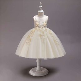 Chiffon Fluffy Dresses Australia - 2019 new girls flower fluffy dress princess dress children cotton dress children's clothing