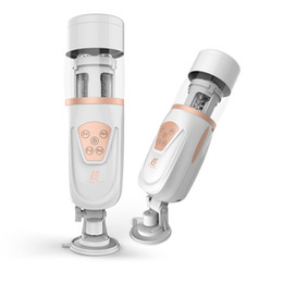 electric piston masturbator Australia - Automatic Men Piston Y19052802 Vibrators Machine Male Sex Masturbator Air Sucking Retractable New Stroker Electric Toys For Sex Telesco Bbvl