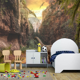 $enCountryForm.capitalKeyWord UK - Custom papel de parede infantil, forest dinosaur murals for living room bedroom sofa background decorative wallpaper