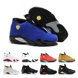 $enCountryForm.capitalKeyWord Australia - Top 14 14s Candy Cane Black Toe Fusion Varsity Red Suede Men Basketball Shoes Last Shot Thunder Black Yellow DMP Sneakers