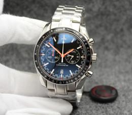 Racing Man Watches Australia - Cool Chronograph Speed Quartz Men 300 Racing Master Co-Axial Moonwatch Professional Spectre Date Men Black Orange Watches Mens Wristwatches