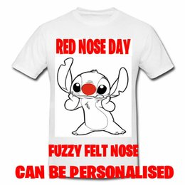Red Noses NZ - Stitch Red Nose Day T Shirt 2019 Comic Relief Personalised Adult Kids Men Women Unisex Fashion tshirt Free Shipping