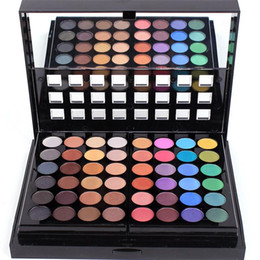 Double Lip Eye Australia - wholesale 78 color eyeshadow push-pull double layer eye shadow box lip gloss blush concealer makeup combination palette manufacturer direct