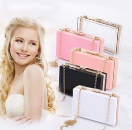 $enCountryForm.capitalKeyWord Australia - Designer-Transparent Acrylic bag bling Chain Box Bag clear crossbody bags clutch for women evening party