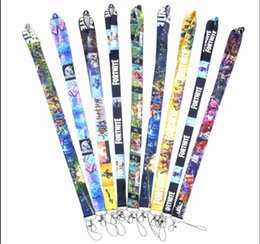 Chinese  9 designs Fortnite phone Lanyard Neck Strap with clip For keychain ID Card Holder Hang Rope Lariat Lanyard key Chain manufacturers